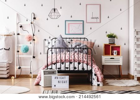 Pastel Child's Bedroom With Rugs