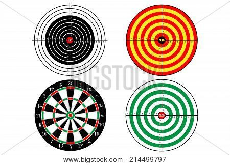 Set targets for shooting practice , vector