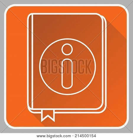 User Guide Book Thin Line Vector Icon. Flat icon isolated on the white background. Editable EPS file. Vector illustration