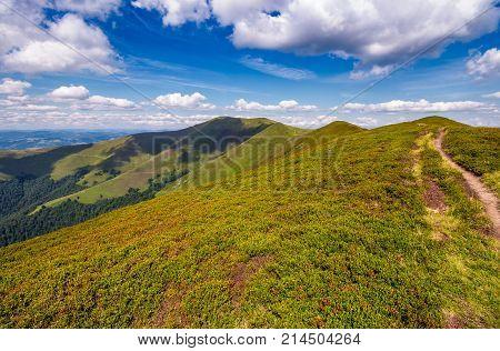Path On Top Of Carpathian Mountain Ridge