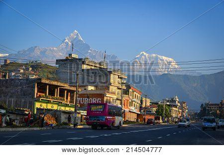 Mountain Township In Pokhara, Nepal
