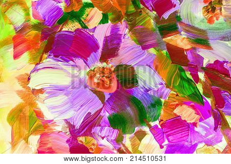 Oil Painting, Impressionism Style, Flower Painting, Still Painting Canvas,