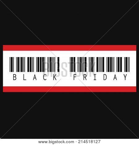 Black Friday inscription barcode. Black Friday Sale barcode
