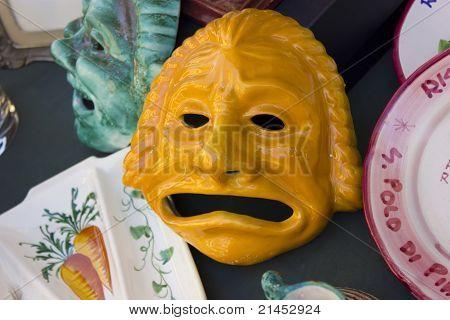 Ornamental ceramic mask