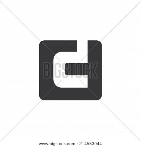C D Letter in Square Logo Vector