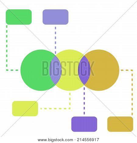 Infographic Flat Vector Illustration Venn Diagrams Template