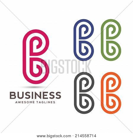 creative letter B abstract logo, Abstract letter B business logo design template, modern Letter B Logo template editable for your business