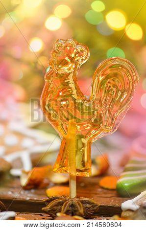 Cockerel Candy On A Stick.