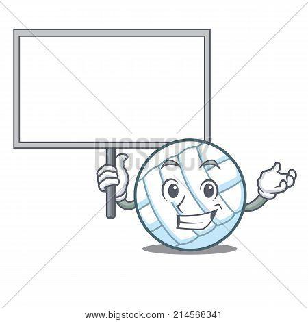 Bring board volley ball character cartoon vector illustration