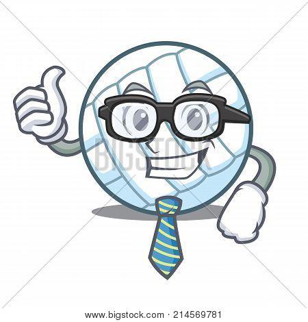 Businessman volley ball character cartoon vector illustration