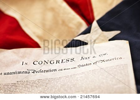 The Declaration of Independence (Selective Focus) poster