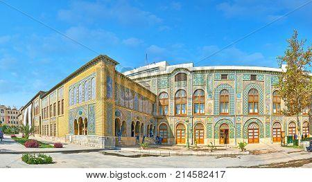 Panorama Of Golestan Edifices, Tehran