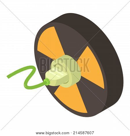 Radiation icon. Isometric illustration of radiation vector icon for web poster