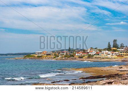 Seaside Neighbourhood, Suburb On Sunny Day