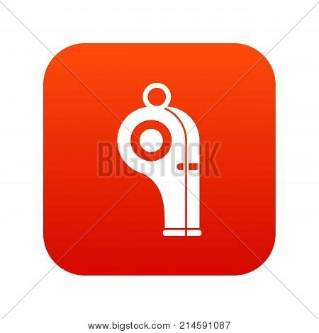 Sport whistle icon digital red for any design isolated on white vector illustration