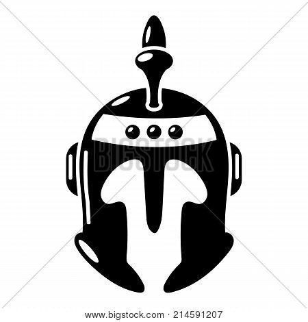 Knight helmet icon. Simple illustration of knight helmet vector icon for web