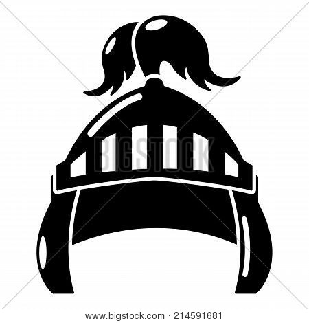 Knight helmet security icon. Simple illustration of knight helmet security vector icon for web