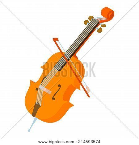 Violin icon. Isometric illustration of violin vector icon for web