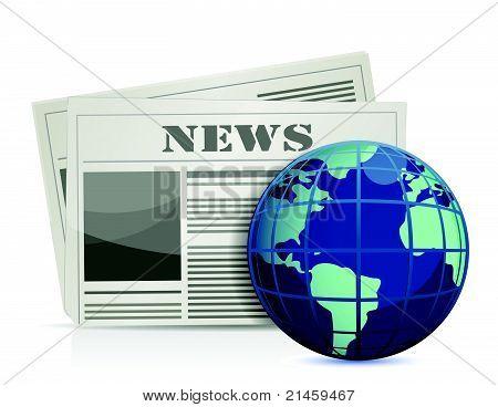 international news illustration design over white