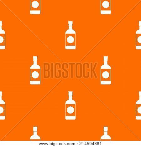 Japanese sake pattern repeat seamless in orange color for any design. Vector geometric illustration