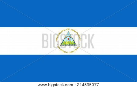 The Official vector flag of Nicaragua .