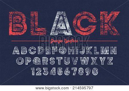 Extra Bold vector decorative bold font design, grunge, alphabet, typeface, texture
