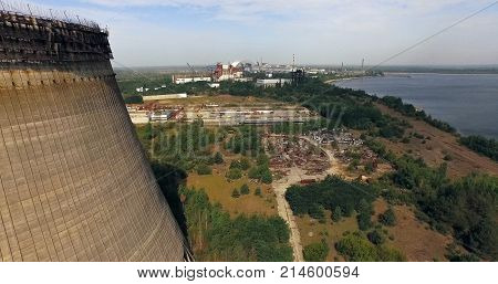 Aerial view on ghost town - Prioyat is near Chernobyl Nuclear power plant