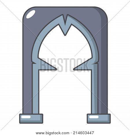 Archway villain icon. Cartoon illustration of archway villain vector icon for web