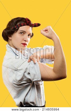 Woman Show Biceps