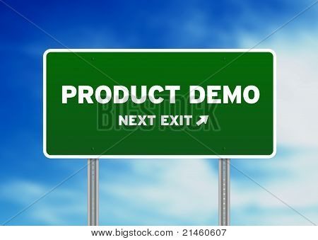 Product Demo Highway Sign