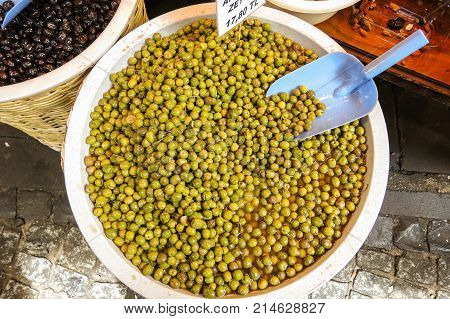 Typical Olives In Istambul, Turkey