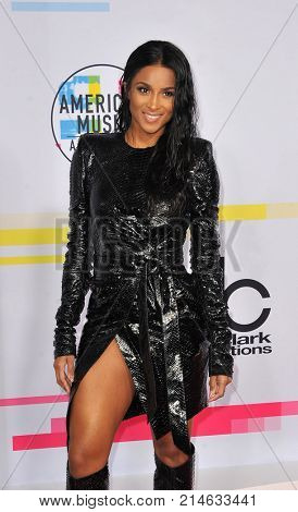 Ciara at the 2017 American Music Awards held at the Microsoft Theater in Los Angeles, USA on November 19, 2017.