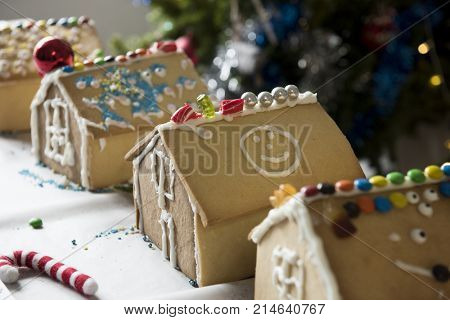 Kids made gingerbread houses