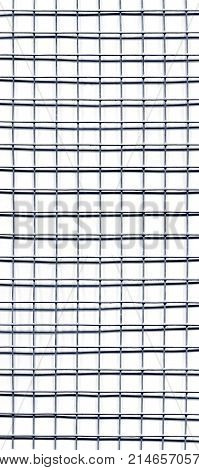 grey welded galvanized steel wire mesh grid with shadow useful as a background