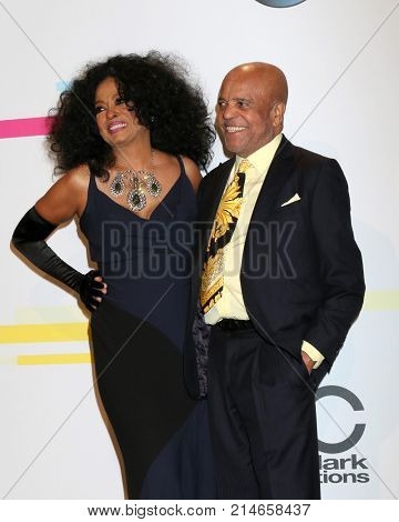 LOS ANGELES - NOV 19:  Diana Ross, Berry Gordy at the American Music Awards 2017 at Microsoft Theater on November 19, 2017 in Los Angeles, CA