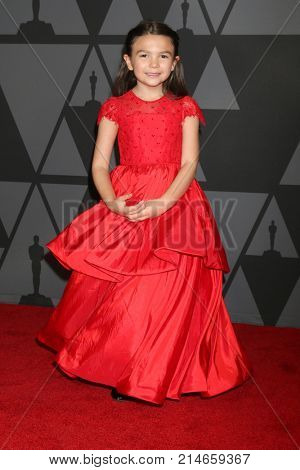 LOS ANGELES - NOV 11:  Brooklynn Prince_ at the AMPAS 9th Annual Governors Awards at Dolby Ballroom on November 11, 2017 in Los Angeles, CA