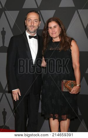 LOS ANGELES - NOV 11:  Emmanuel Lubezki, Lauren Beth Strogoff at the AMPAS 9th Annual Governors Awards at Dolby Ballroom on November 11, 2017 in Los Angeles, CA
