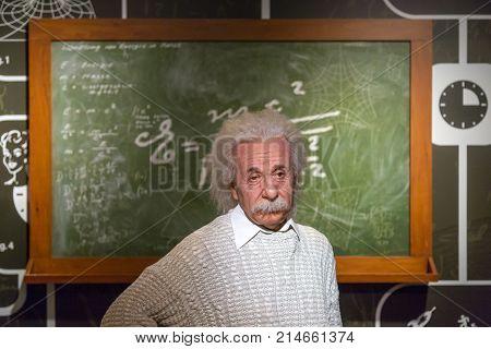 Albert Einstein Wax Sculpture In Madame Tussauds