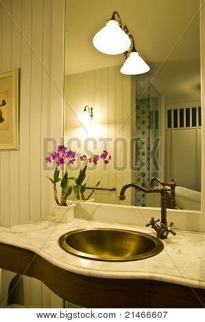 Interior Of Bath Room In Modern House