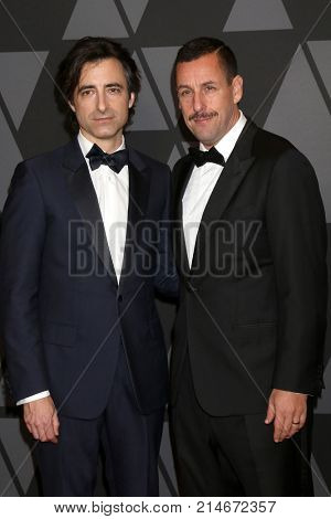 LOS ANGELES - NOV 11:  Noah Baumbach, Adam Sandler at the AMPAS 9th Annual Governors Awards at Dolby Ballroom on November 11, 2017 in Los Angeles, CA