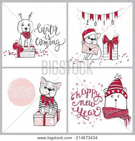 Merry Christmas 2018 Vector & Photo (Free Trial) | Bigstock