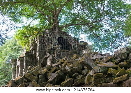Siem Reap, Cambodia - Dec 03 2016: Beng Mealea. A Famous Historical Site(unesco World Heritage) In S