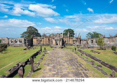 Preah Vihear, Cambodia - Dec 03 2016: Preah Vihear Temple. A Famous Historical Site(unesco World Her