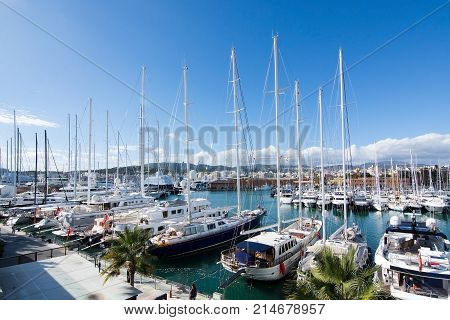 Yachts Moored In Palma