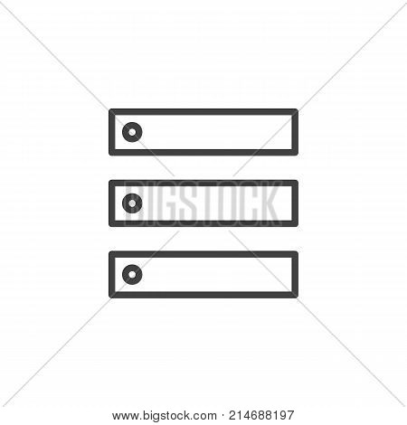 Data center, server line icon, outline vector sign, linear style pictogram isolated on white. Database symbol, logo illustration. Editable stroke