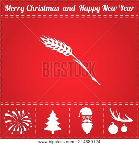 Spica Icon Vector. And bonus symbol for New Year - Santa Claus, Christmas Tree, Firework, Balls on deer antlers