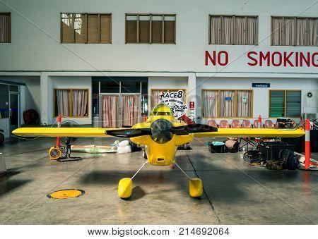 RAYONG THAILAND-NOVEMBER 18 2017 : Swaid L. Rahn's plane no.8