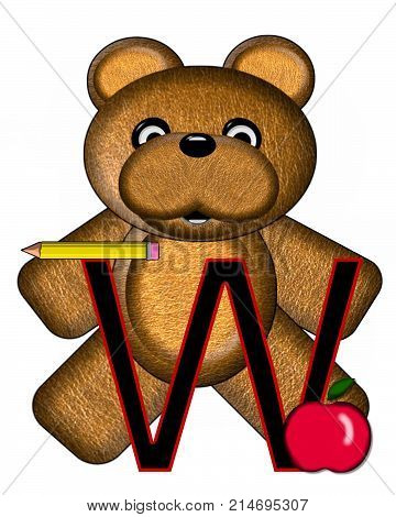Bear Alphabet Lesson W