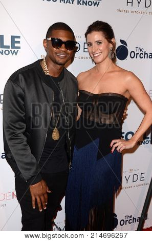 LOS ANGELES - NOV 13:  Usher Raymond IV, Kaily Smith Westbrook at the