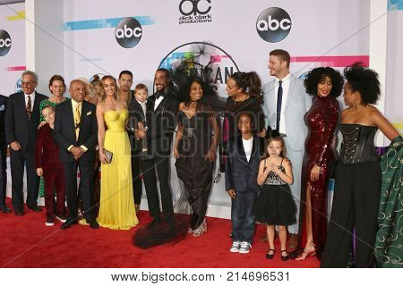 LOS ANGELES - NOV 19:  Berry Gordy, Diana Ross, Famly, Friends at the American Music Awards 2017 at Microsoft Theater on November 19, 2017 in Los Angeles, CA